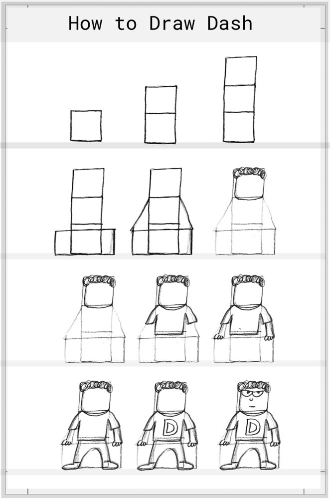 How to Draw Dash